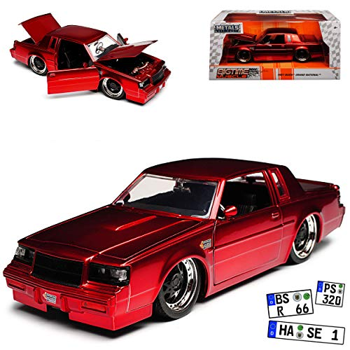 Jada Buick Grand National Rot Metallic 1987 1/24 Modell Auto