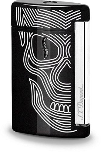 S.T. Dupont - Accendino MiniJet Skull Teschio Nero - Originale 010511