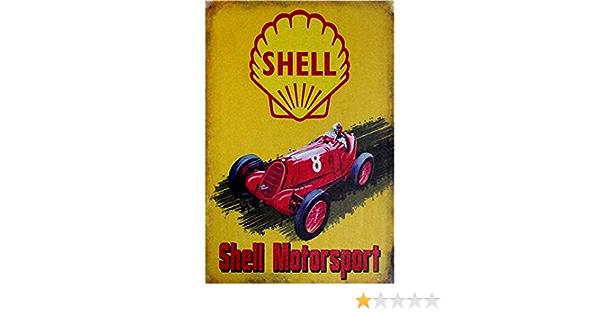 Easy Painter Shell Oil Vintage Metallschild Benzin Can Old Style Garage Bar Man Cave Blechschilder Lustig Retro Deko Schilder Motoröl Küche Haushalt