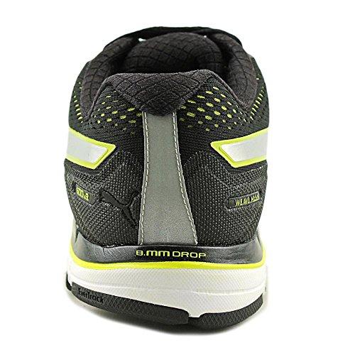 Puma Mens Faas 600 V2.5 Chaussures Black-Silver-Sulphur Spring