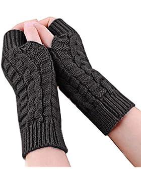 SMARTLADY - Unisex Suave Manopla Caliente, Invierno Moda Guantes sin dedos del brazo de punto