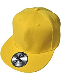 Underground Kulture Casquette de Baseball Réglable Toute Jaune (Plain Yellow Snapback)
