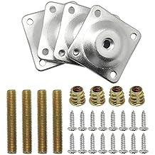 M2*6-10mm Vernickelt Stahl Phillips SenkkopfSchraube+Mutter+Unterlegscheiben Kit