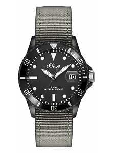 s.Oliver Herren-Armbanduhr XL Analog Quarz Textil SO-2694-LQ