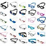 Premium Schwimmbrille von #DoYourSwimming - perfekte Passform für Erwachsene ab ca. 12Jahre / Anti-Beschlag-Schutz für kristallklare Sicht / verspielte Design - Chlorbrille, die Freude auf Schwimmen und Wasser macht. Eine ideale Schwimmbrile / Taucherbrille inklusive Transportbox. Hoher Tragekomfort mit leicht verstellbaren Silikonband, kratzfesten Gläsern mit integrierten UV-Schutz AF-400m / silber