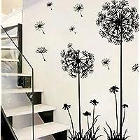 wandtattoo lwenzahn pusteblume 130x80 cm wandaufkleber wohnzimmer schlafzimmer treppe wandsticker pflanzen zum kleben blumen pflanzenmotiv sticker - Wandtattoo Wohnzimmer Blumen