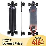 Teamgee Skateboard Elettrico Longboard con Telecomando,Ultra Sottile,Batteria Integrata, Doppio...