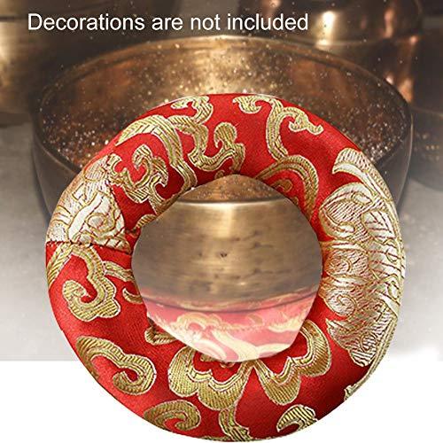 Klangschalenkissen Ringform tibetische Klangschale fester Halter Handarbeit Baumwollmischung Rund Meditationssitzkissen Ringkissen Buddhismus Klangschalen Zubehör