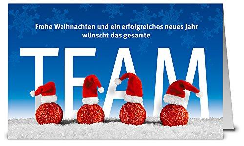 Weihnachtskarten Team WK17216, 50 Klappkarten im Set mit Umschlag -