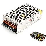 Youtumall AC 100 / 220V to 12V DC 20A Transformador de fuente de alimentación del LED para la tira de CCTV cortocircuito y sobre la protección actual