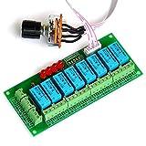 Electronics-Salon ausgewogene Vier Stereo Audio Signal Input Selector Relais Modul.