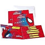 Spider-Man - 6 invitaciones con sobre (Verbetena 014300013)