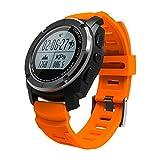 Outdoor Activity Tracker S928 all'aperto smart watch, GPS con Monitoraggio Attività e Profili Sport,Bluetooth Fitness Tracker,monitor cardiaca. (arancia)