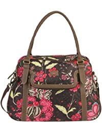 Oilily Paisley Flower Carry All Braun Damen Handtasche Tasche Henkeltasche Schultertasche