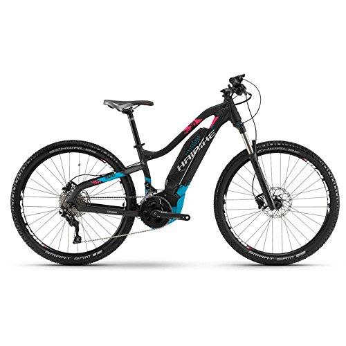 Haibike E-Bike SDURO HardLife 5.0 500Wh 20-G Deore 18 HB YCC schwarz/blau/pink matt Small