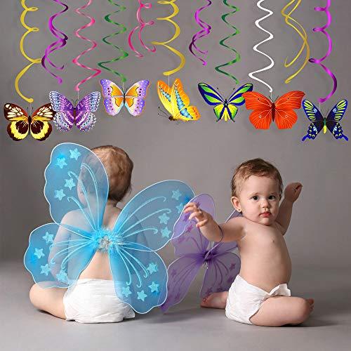 Sayala 30 Stücke Butterfly Party hängen Swirl Dekorationen - Butterfly Party Supplies Geburtstag / Fairy Party Supplies Geburtstag / Fairy Party Dekorationen / Butterfly Room Decor