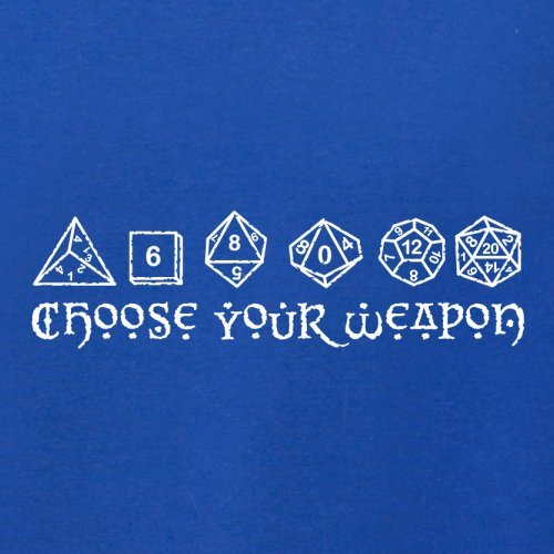 Choose your Weapon (D&D Dice) - Herren T-Shirt - 13 Farben Royalblau