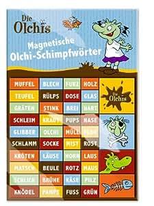 Olchi Magnet-Schimpfwörter (44 verschiedene Magnete)