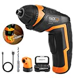 Electric Screwdriver, Tacklife SDP51DC Rechargeable Cordless Screwdriver 3.6V 2000mAh Lithium-Ion Battery Electric Driver
