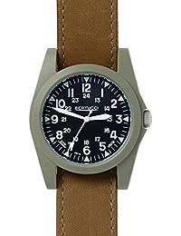 Bertucci 13366Unisex policarbonato banda de cuero marrón negro Dial reloj inteligente