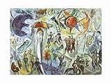 Marc Chagall La Vie (1964) Poster Kunstdruck Bild - Kostenloser Versand