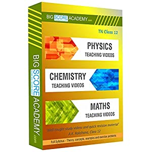 Big Score Academy – Tamil Nadu Samacheer Kalvi Class 12 Combo Pack – Physics, Chemistry and Maths Full Syllabus Teaching…