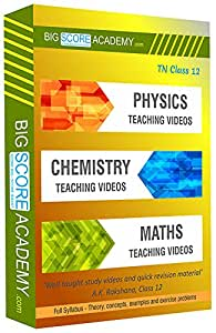 Big Score Academy - Tamil Nadu Samacheer Kalvi Class 12 Combo Pack - Physics, Chemistry and Maths Full Syllabus Teaching Video (DVD) - [for English Medium Students]