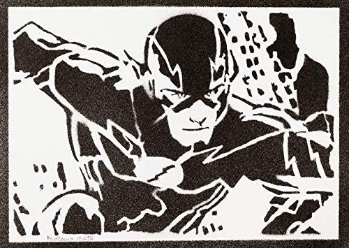 The Flash Justice League Poster Plakat Handmade Graffiti Street Art - Artwork