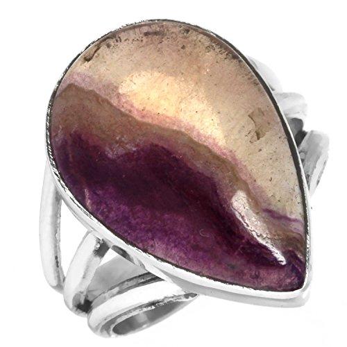 Natürliche Blau John Edelstein Ring Solide 925 Sterling Silber Von Hand gefertigt Schmuck Größe 51 (16.2)