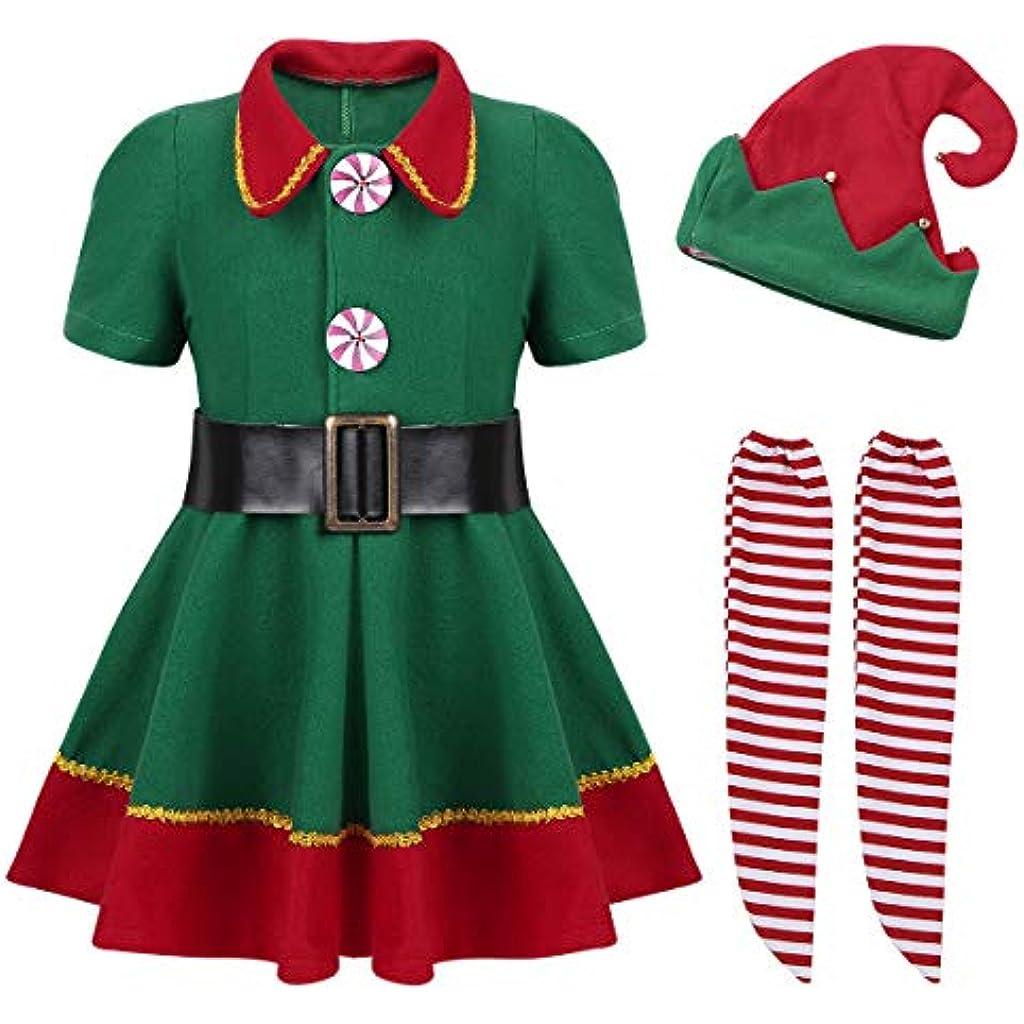 ac66af4d4 YiZYiF Disfraz Infantil para Navidad Unisex Niños Dsifraces de Elfo Traje  de árbol Vestido Top Blusa + Sombrero Disfraz de Santo Equipo del Duende  4-14 Años