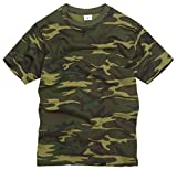 100% Cotton Military Style T-shirt - Woodland Camouflage (XL)