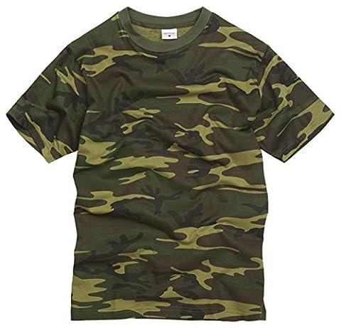 Unknown - T-shirt - - Manches courtes Homme Multicolore woodland camouflage - Multicolore - woodland (Militari T-shirt)