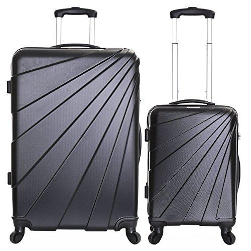 Slimbridge Fusion Ensemble de 2 valises rigides, Noir