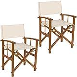 Set 2pièces de chaise fauteuil metteur en scène bois acacia Lux lib623