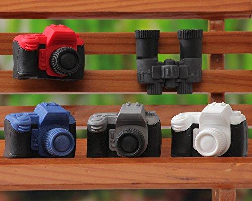 Iwako–Kamera und Fernglas Japanische Radierer (5Stück) aus Japan (Japan Kamera)