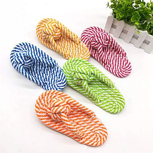 JFHGNJ Pet Kauspielzeug Flip Flop Baumwolle Seil Schuhe Puppy Zahnreinigung Spielzeug für kleine, mittelgroße Hunde E2S-Zufällige Farbe_M