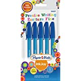 Paper Mate Inkjoy 100 CAP Capped Ball Pen Fine Tip 0.7mm - Blue (Pack of 5)