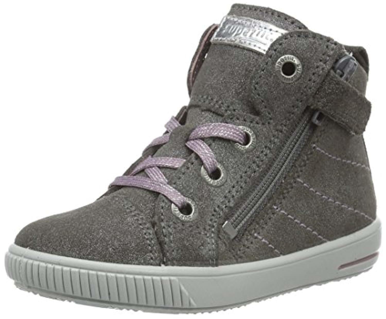 Superfit Moppy, Baby Girls' Walking Baby Shoes, Grey (STONE KOMBI 06), Child 10.5 UK (28 EU)