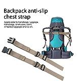 Prom-near verstellbarer Rucksack Rucksack Brustgurt Heavy Duty Brustgurt Brustgurt zum Wandern und Joggen