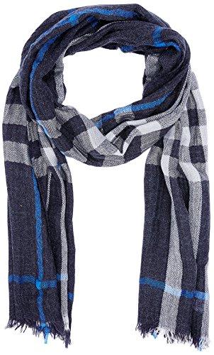 s.Oliver Herren Schal 97710913911 Blau (Blue Check 58N1), One Size
