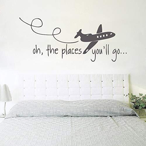 GEHEN WERDEN Dr Seuss Kinder Wandtattoo Jagd Quote Vinyl Art Home wandaufkleber für kinderzimmer wohnzimmer Decor 42 * 110 cm ()