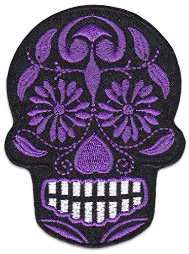 her Aufbügler Patch Mexiko Totenkopf Bügelbild Rockabilly Greaser Latino ()