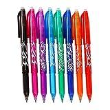 Penne a sfera cancellabile con inchiostro gel, punta fine 0,5 mm, cancellabile a caldo, confezione da 8 8 Colors Pack Lavare a caldo.