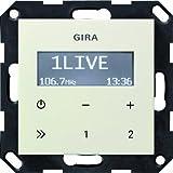 Gira 228401 - Radio RDS da incasso senza altoparlanti, Sistema 55, colore: Bianco crema