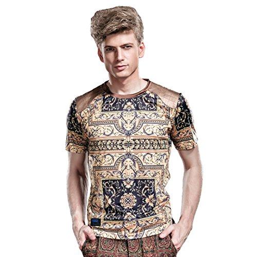 FANZHUAN T Shirt Herren Mit Aufdruck Slim Fit Schwarze T Shirt T Shirt Aufdruck Herren Rundhals T-Shirt Herren Slim