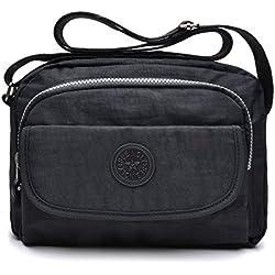 tuokener Bolsos de Mujer Nylon Impermeable Bolso Misako Bandolera Hombre Bolsa para Mujer Viajar Crossbody Bag Nylon Waterproof