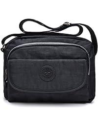 1e160e2ee tuokener Bolsos de Mujer Nylon Impermeable Bolso Misako Bandolera Hombre  Bolsa para Mujer Viajar Crossbody Bag