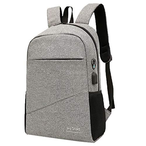 Dorical Laptop Notebook Rucksack Business Backpack Schulrucksack Daypack Reiserucksack mit USB-Ladeanschluss Wasserdichte Rucksack Unisex für Arbeit Schule 20-35L (6 Farben)(Grau)