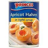 Princes albaricoque mitades en jarabe ligero 410g