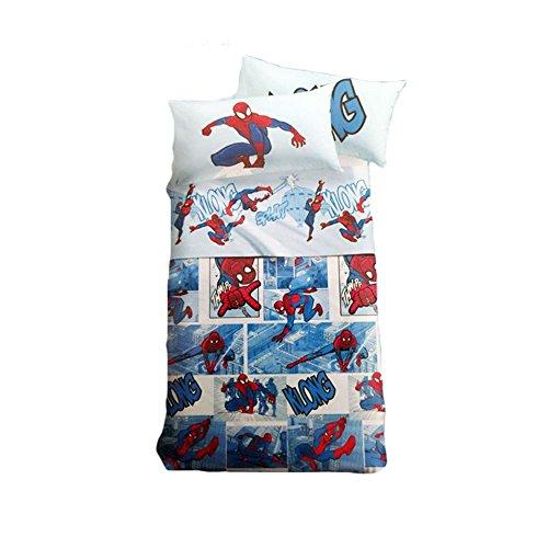 Caleffi set lenzuola copriletto disney e marvel (spiderman fumetto)